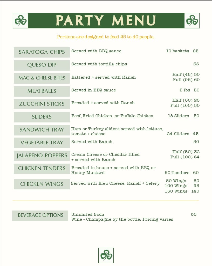 party-menu-madison